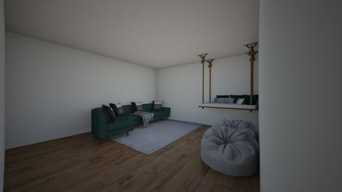Green snug - Living room  - by riordan simpson