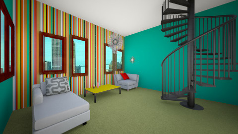 Mod Living room  - Retro - Living room  - by manicpop