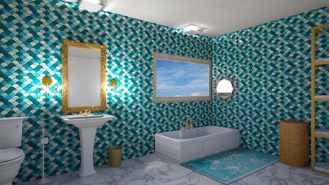 Turqoise Bathroom - Bathroom - by henriesophie