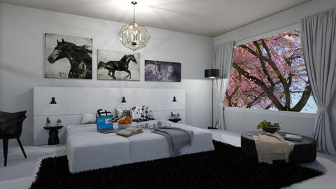 Modern Horse Room - Bedroom - by beautiful luxury winter decoration