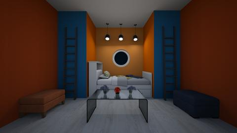 orange and blue - Bedroom  - by deleted_1542322250_awesomeroom16