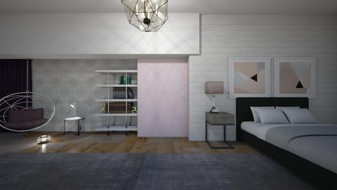 purple vibey  - Bedroom  - by jannahoman