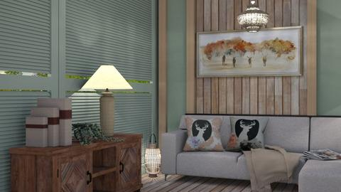 M_ Contest_wood wall - Living room  - by milyca8