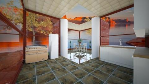 ModernBlondeKitchen - Minimal - Kitchen  - by lori gilluly