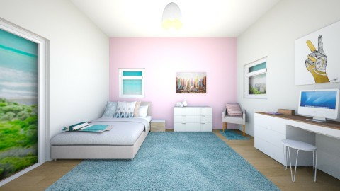 girls room - Modern - Kids room  - by 123SM