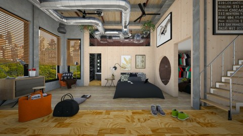 loft bedroom - Modern - Bedroom  - by Evangeline_The_Unicorn