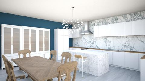 Navy Kitchen - Modern - Kitchen  - by annlmh
