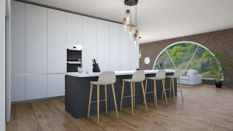 cool kitchen  - Modern - Kitchen  - by martinini