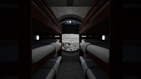 Moon Base Sleep Quarters - Bedroom  - by SammyJPili