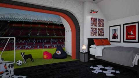 Manchester United Fan - Masculine - Bedroom  - by Nicky West