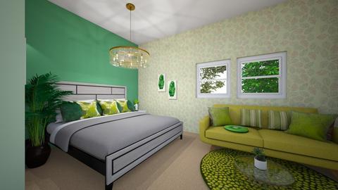 Sage green room - Bedroom  - by gayathrikurandwad