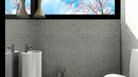 Guest WC Monochrome - Minimal - Bathroom  - by 3rdfloor