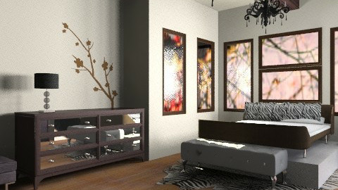 Cherry Zebras  - Classic - Bedroom  - by Kiss_Stain