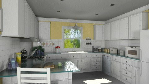 My kitchen Redo - Country - Kitchen  - by Bibiche