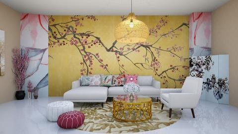 Cherry Blossom living room - by Feeny