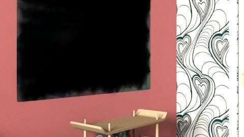 Living Room Red Love - Retro - Living room  - by funkymonkey94
