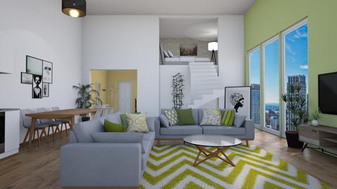city one bedroom apt - Living room - by tj94
