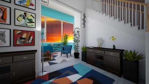 Maximalist Hallway - Living room - by TaisiBird2019