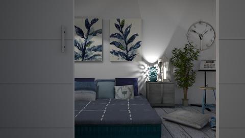 Blue - Bedroom  - by eliseatlife