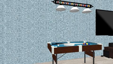 man cave - Modern - Living room  - by wyattleininger