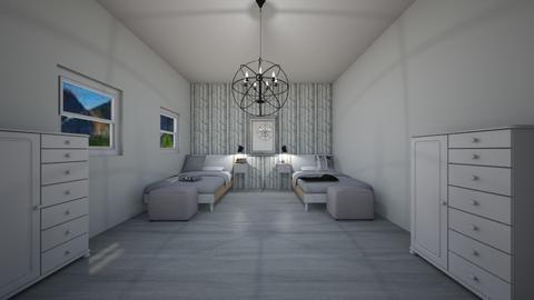 neutral sibling bedroom - Minimal - Bedroom - by evrska