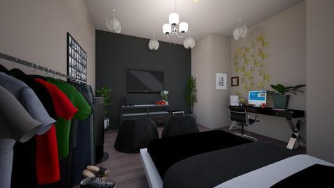modern  - Modern - Bedroom  - by cookieswirlroomdesigner