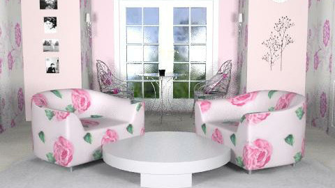 Pretty pink floral - Feminine - Living room  - by amritbahra