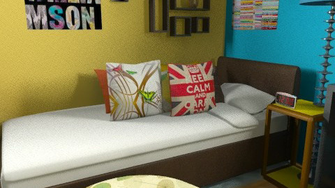 teenager room 4 (games addict maybe) - Eclectic - Bedroom  - by lavilavinia