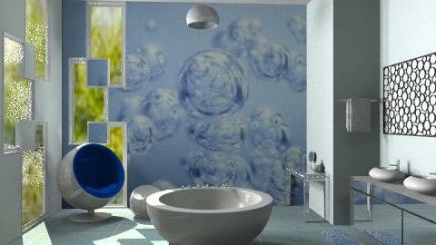 Bubble Bath - Modern - Bathroom  - by Interiors by Elaine