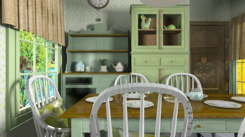 pistachio meal - Rustic - Dining room  - by Leyvna