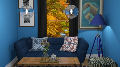 Navy Living room - Living room  - by nonanymous_