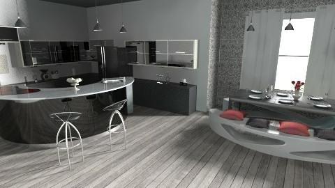 black and white - Modern - Kitchen - by sunlove