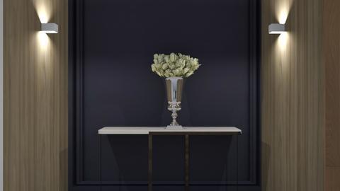 blue hall - Modern - Living room - by szaboi
