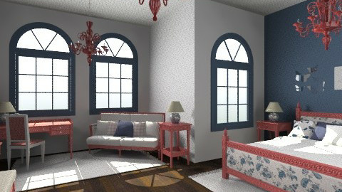 redbluewhite - Rustic - Bedroom  - by kiscsitty