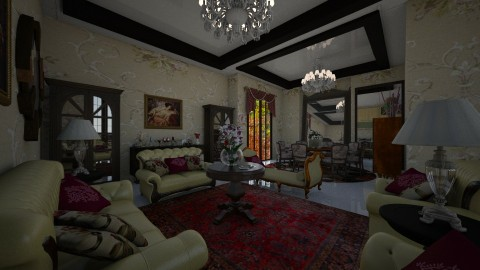 Colonial - Bedroom  - by Maria Helena_215