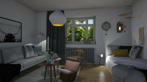 LivingAndSleeping - Rustic - Living room  - by Annathea