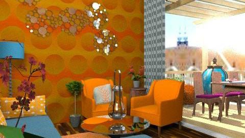 LIVING ROOM REDO - Retro - Living room  - by natural11