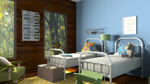 Vacation Kids' Room - Rustic - Kids room  - by lauren_murphy