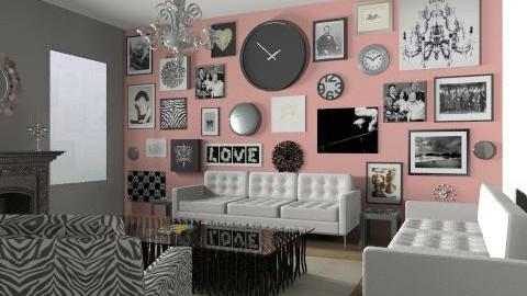 pink livingroom - Eclectic - Living room  - by Rechoppy92