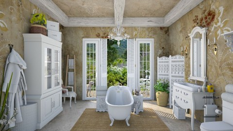 Design 117 A Bath in Provence - Bathroom  - by Daisy320
