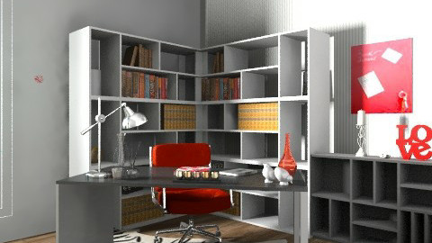 Home Office For Serious Buisness! - Retro - Office - by cara_98