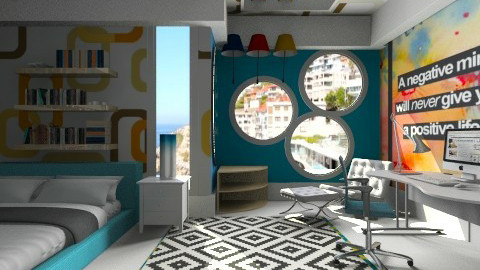 the colour fest - Modern - Bedroom  - by Nhezi
