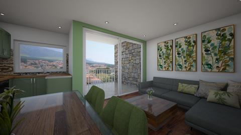 Sea view apartment - Living room - by ivona_h