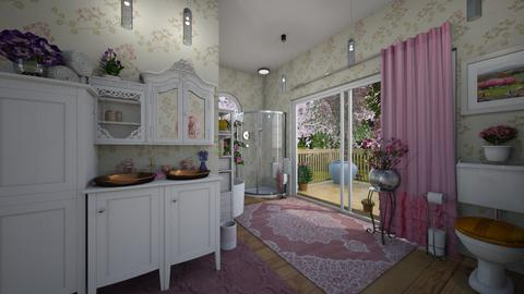 Cherry Blossom Bathroom - Bathroom  - by Christine Keller