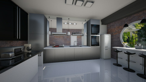 glossy kitchen - Kitchen  - by AhmedWael07