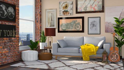 boho_living_contest - Living room  - by nitya_avvari