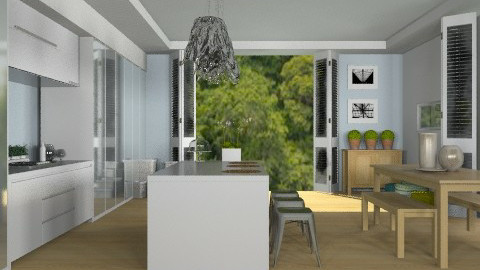 Kitchen/Dining on the Beach - Modern - Kitchen  - by Carliam