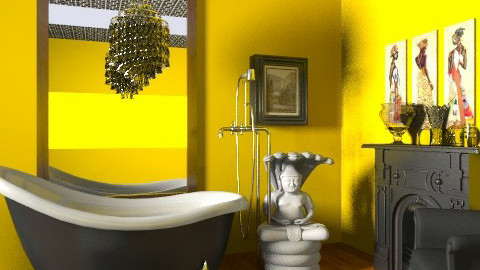 Yellow Bathroom [Inspired] - Modern - Bathroom  - by kishwick