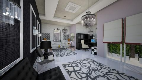 Office_Black_Purple_DeLuxe_Interior_ - Glamour - Office  - by Nikos Tsokos