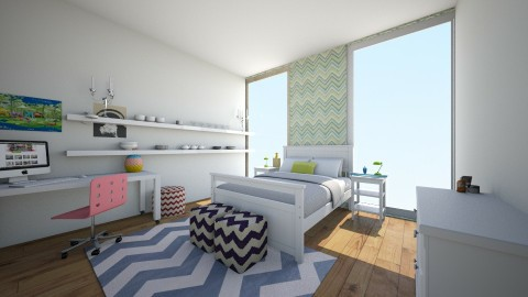 chvron summer room - Bedroom - by Cora_da_B0ss